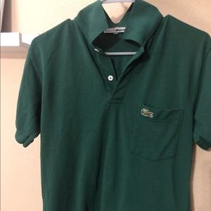 Green Men's Lacoste Front-Pocket Polo